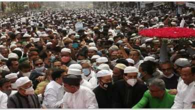 ব্যারিস্টার মওদুদ আহমদের মরদেহে শ্রদ্ধা জানাতে বিএনপি নেতাকর্মীদের ঢল